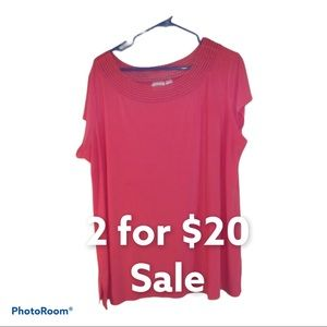 Cato Blouse Pink Short Sleeve Size 18-20